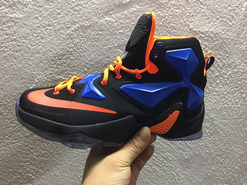 brand new fadba 0d3d6 ... ireland 2016 2017 sale lebron 13 xiii black blue hero hot lava new  arrival 2016 f2dfc