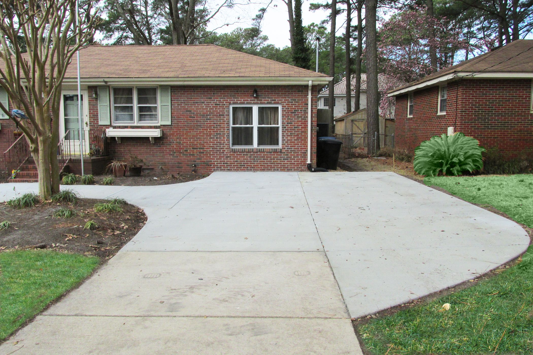 Widening driveway ideas google search yard for Concrete driveway designs