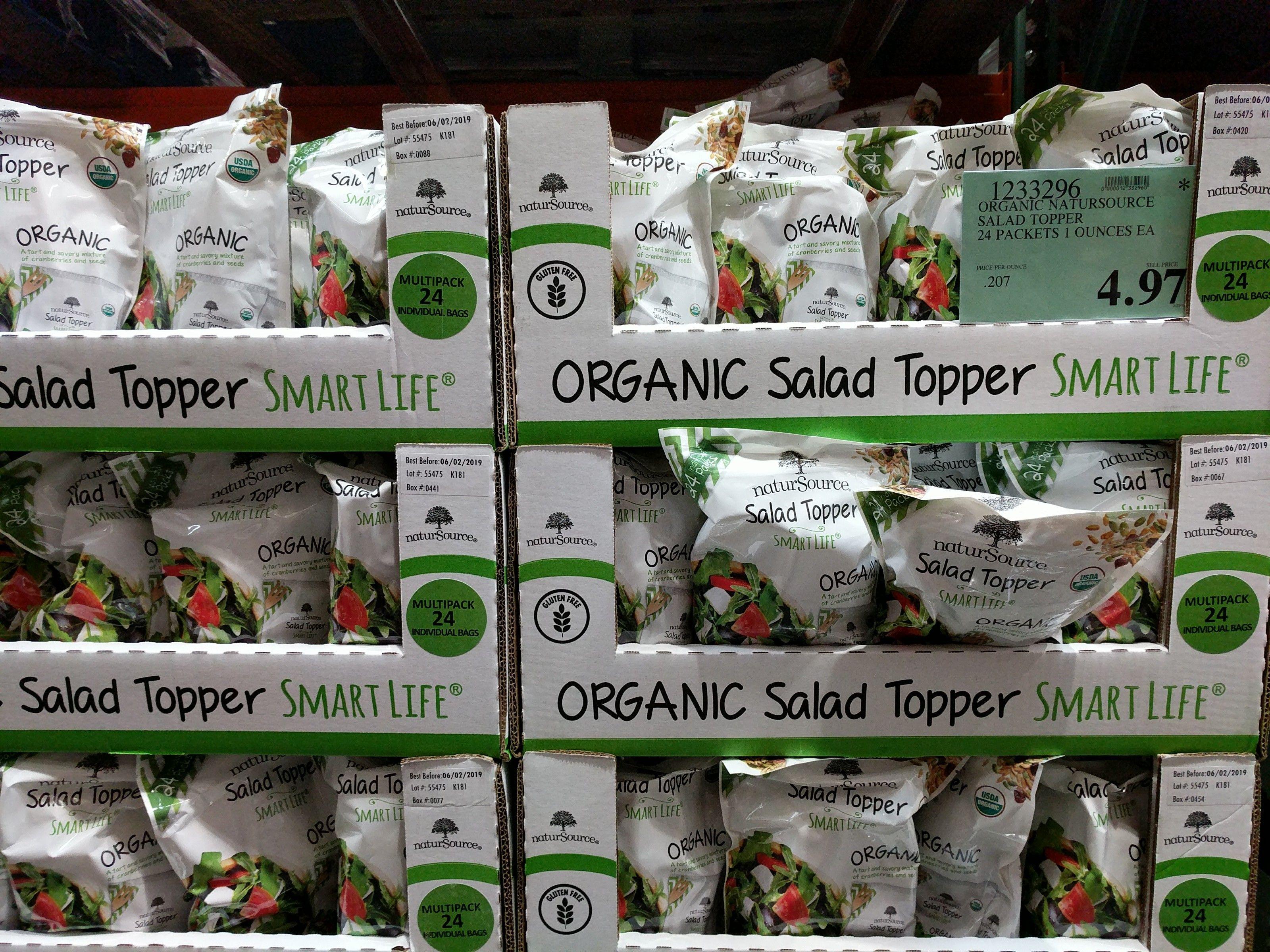 Natursource Organic Salad Topper 4 97 Costco Clearance Salad Toppers Organic Salads Salad Topping