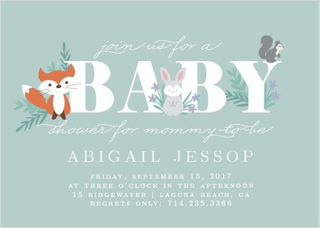 Friendly Forest Baby Shower Invitations Thomandau0027s baby shower - baby shower invitation