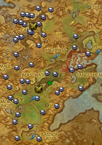 Warlords of Draenor Zone Treasure Maps | WoWee. | Warlords of ... on