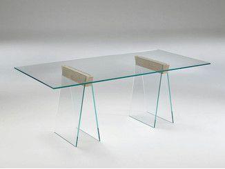 Tonelli Design Listino Prezzi.Tavolo Rettangolare In Vetro Miles By Tonelli Design Design Giulio