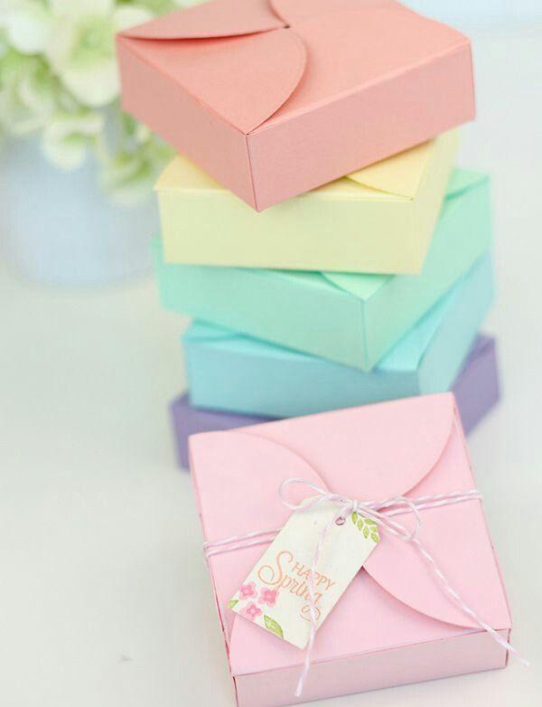 Pastel gift boxes