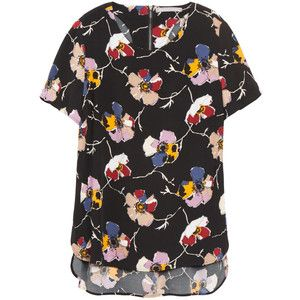 Cool fall florals, would look great with jeans and a blazer
