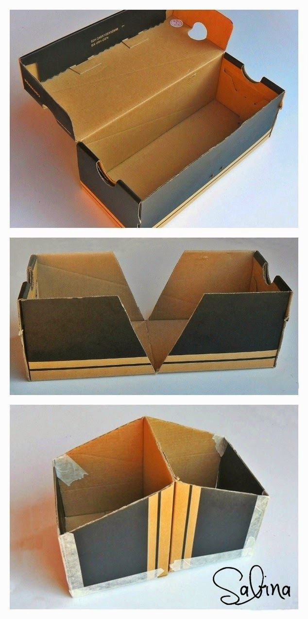 Altered Shoe Box For Cards Shoe Box Diy Shoe Box Crafts Diy Storage Boxes