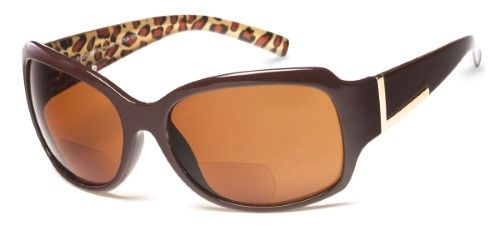 533f1d1d937e The Cleo Bifocal Sun Reader +1.25 Brown Leopard with Amber Reading ...