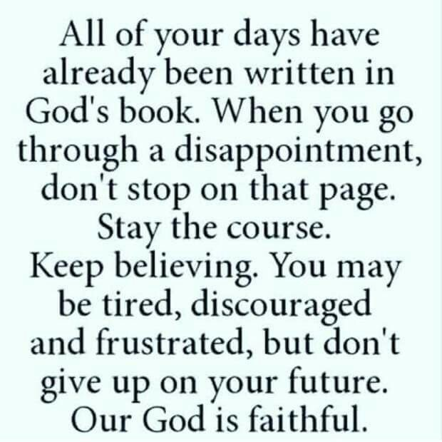 God is Faithful...