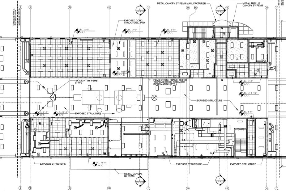 DRAFTING SAMPLE – REFLECTED CEILING PLAN | Construction Drawings ...