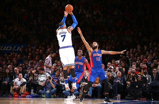Melo With The Jumper New York Knicks Sports Basketball Knicks