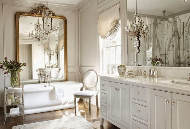 Photo of French inspired bathroom, create your own luxury spa