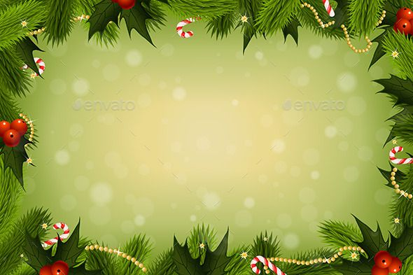 Christmas Greetings Background.Christmas Card Background With Decorations Fully Editable