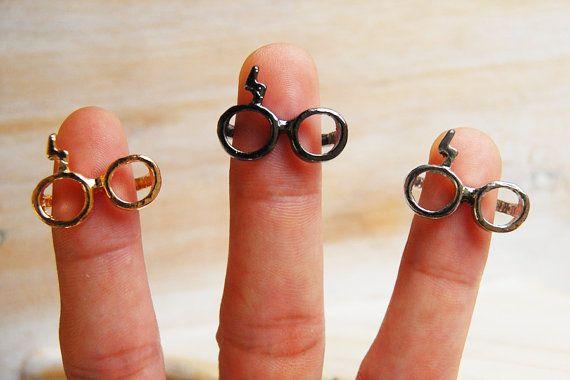 Iharry Lunettes Et Anneaux De Foudre Inspire Par Harry Potter Lightning Ring Statement Rings Rings