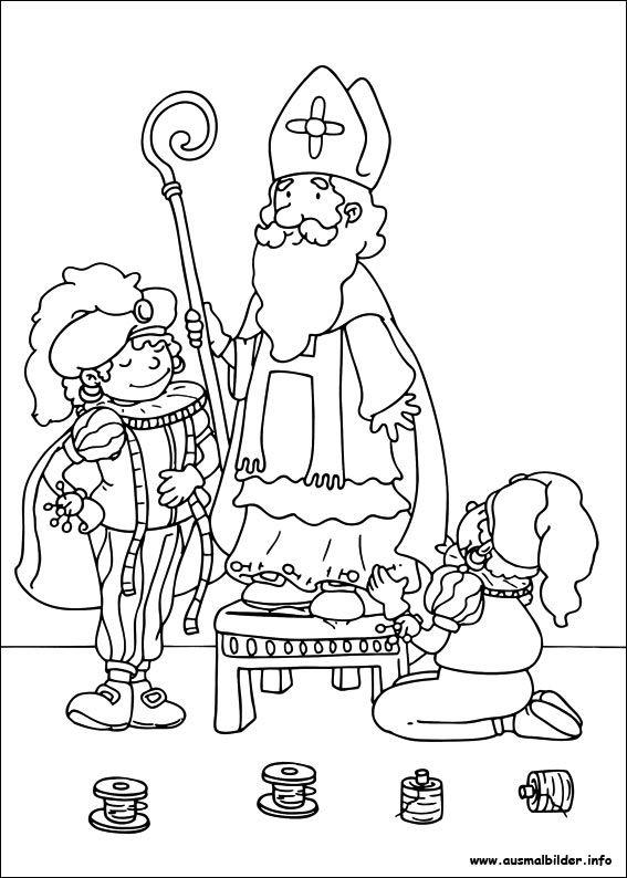 Kleurplaat Paard Voor Kleine Kinderen 3 Jaar Ausmalbilder Nikolaus 03 Kolorowanki Pinterest