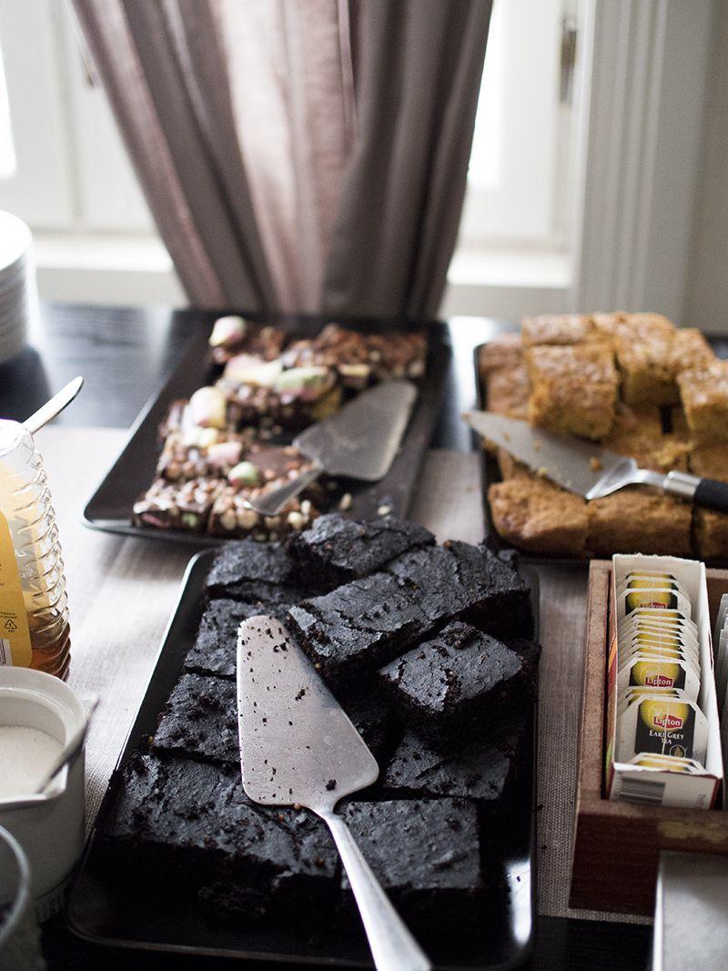 Carrot cake, brownies, chocolate