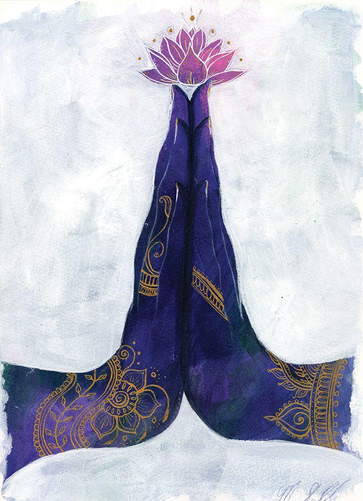 Anjali Mudra — Art by Monica