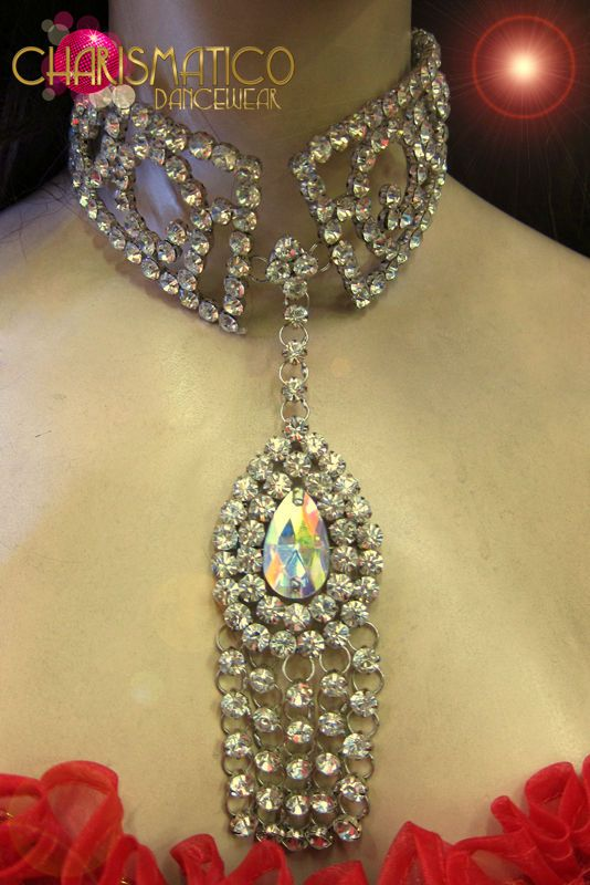 Mirror accented Silver beaded Stunning green glitter butterfly showgirl Necklace #CHARISMATICO