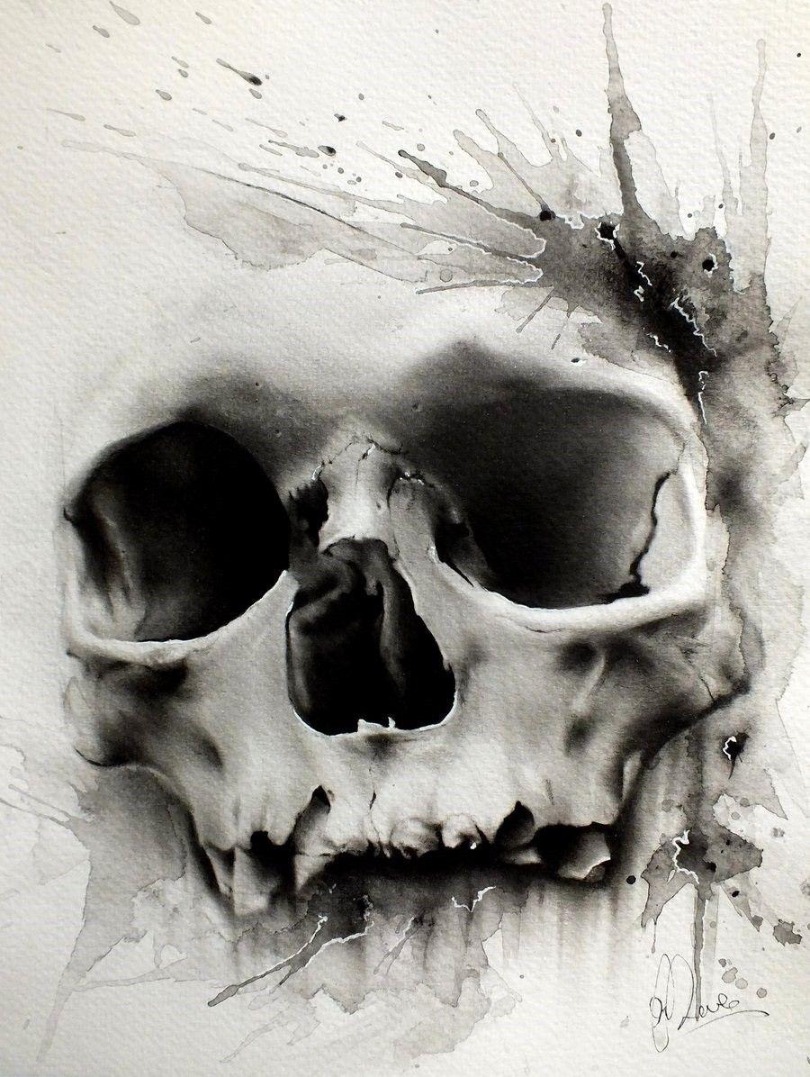 Dessin Tatouage Tete De Mort 1 Pinte