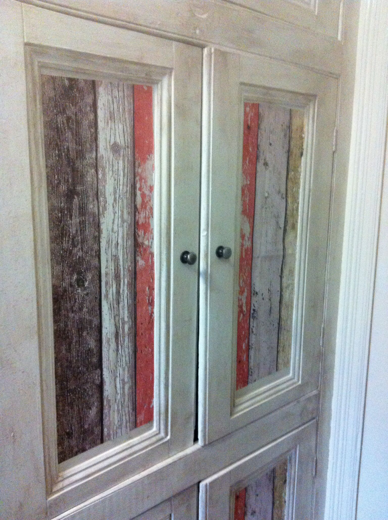My customised shabby chic beach hut inspired bathroom cabinet. I ...