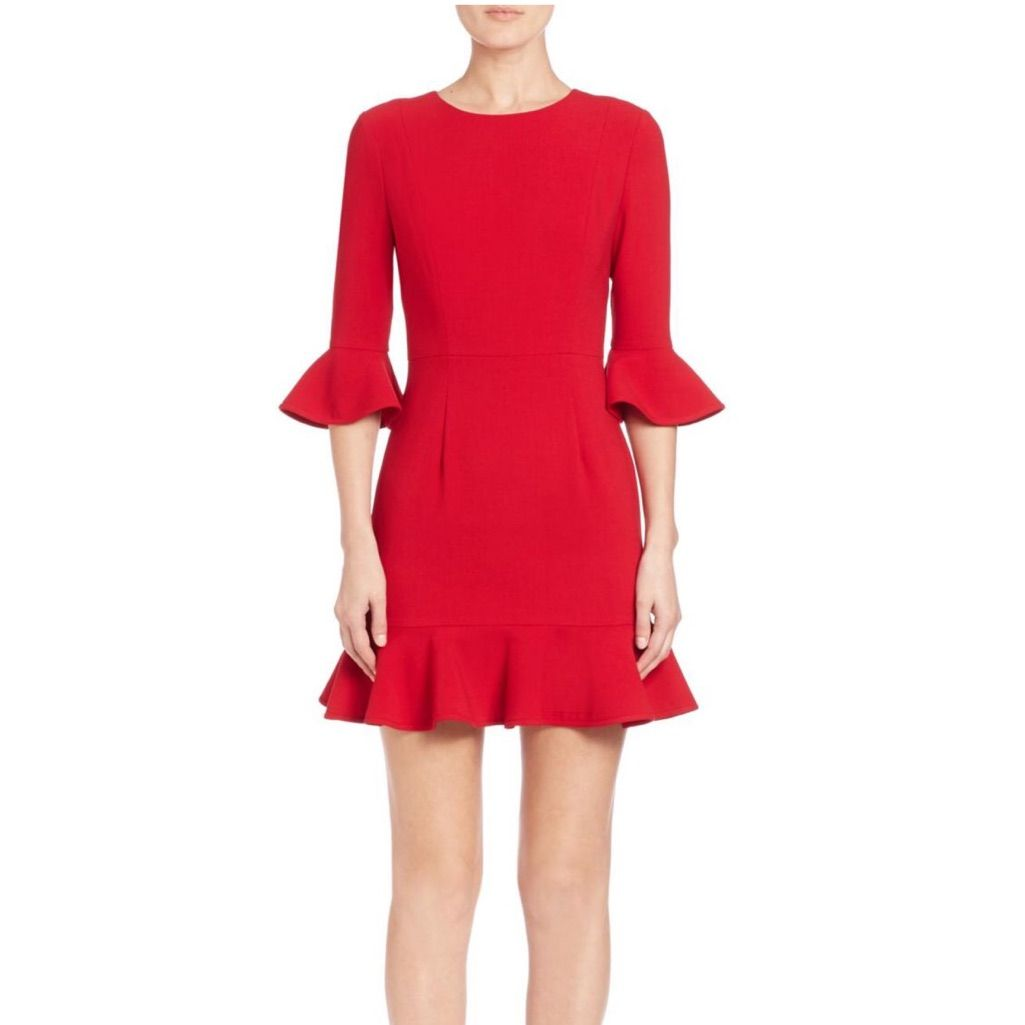 Nwt Black Halo Red Brooklyn Dress