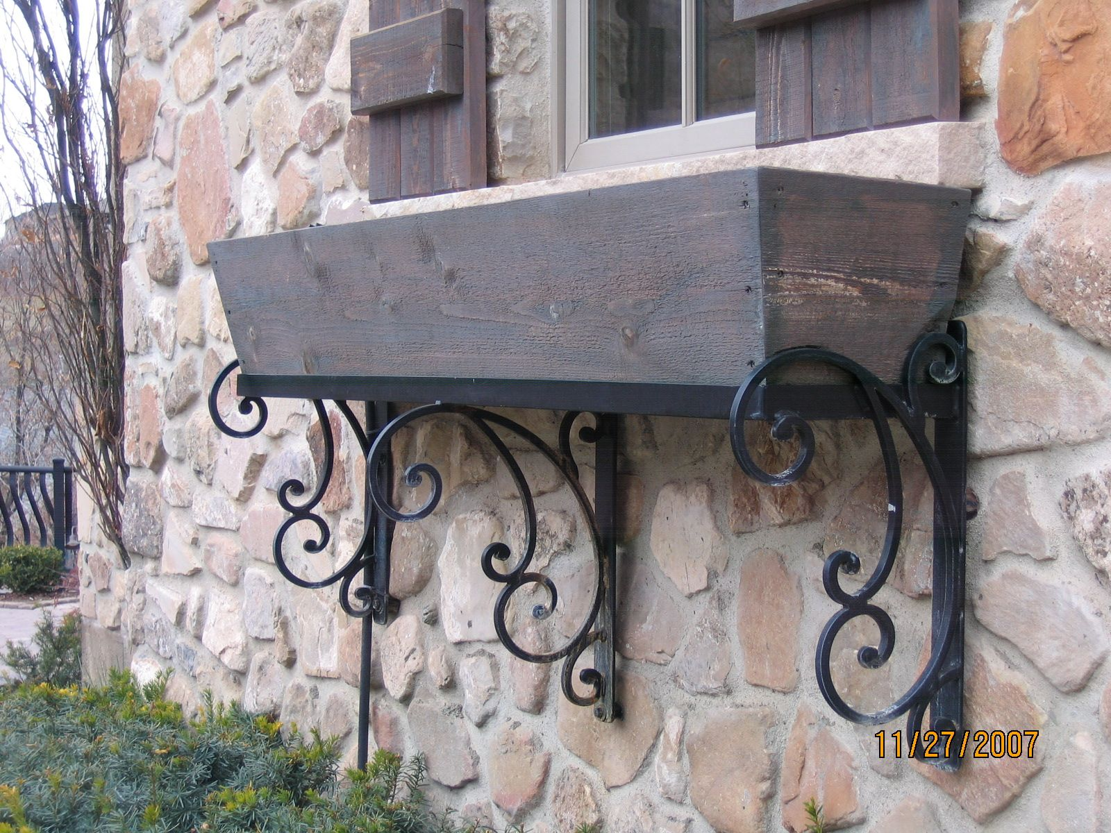 SALT LAKE CITY UTAH ORNAMENTAL WINDOW BOXES IRON RAILING