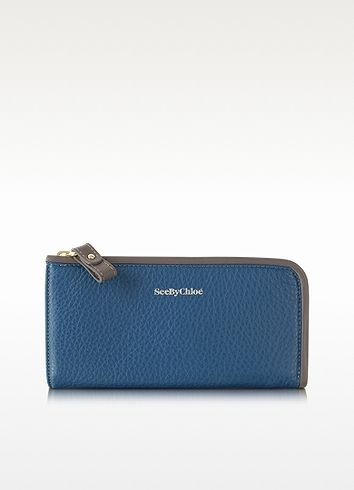 $130 #SaleAlert: See by Chloe April Leather Zip Wallet on shopstyle.com