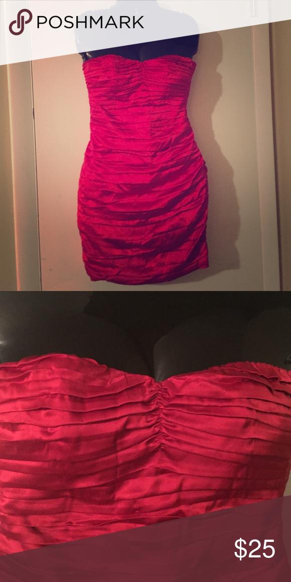Express dress Express silky red super cute dress Express Dresses Strapless