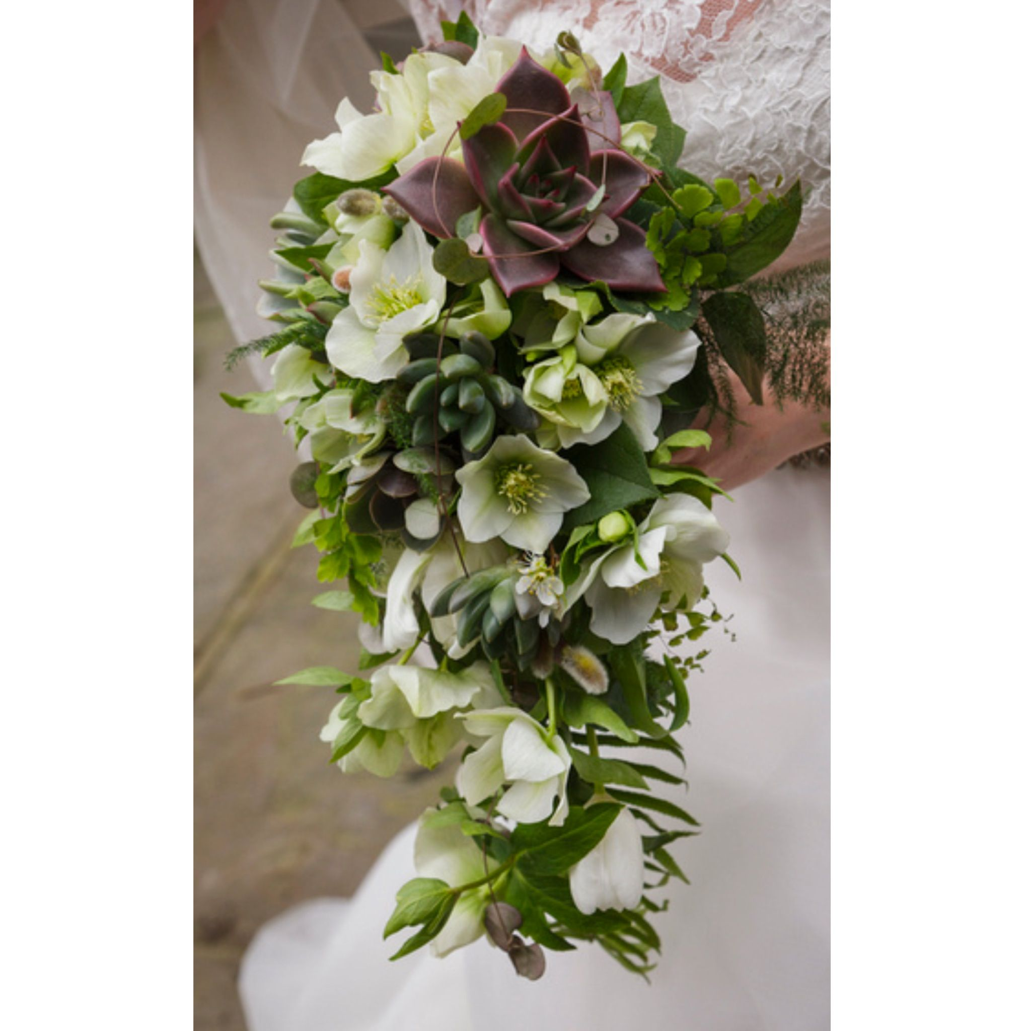 Winter/spring Wedding Bouquet With Succulents And