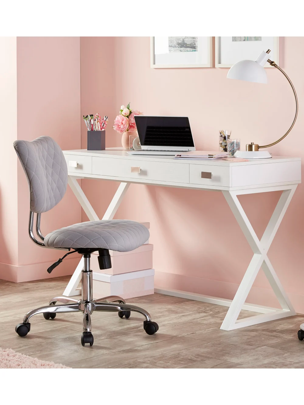 See Jane Work Kate Writing Desk White Office Depot in