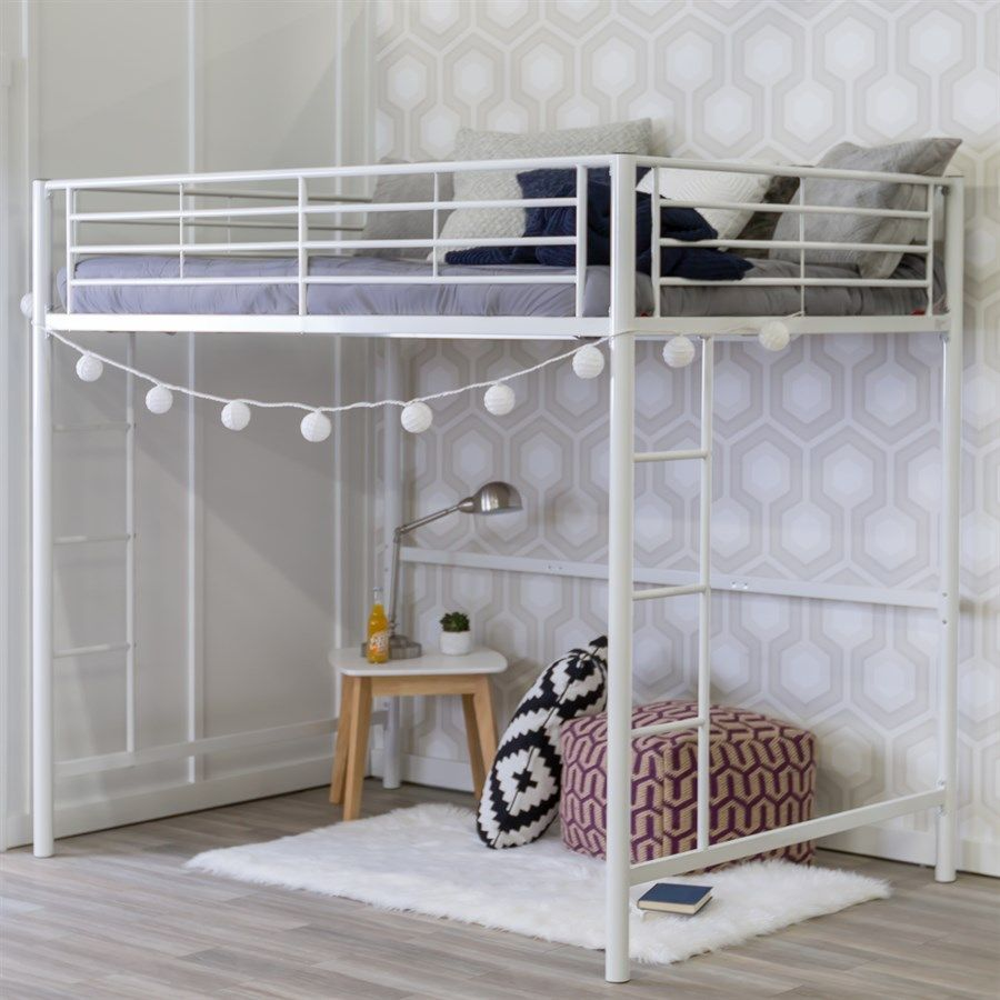 Premium Metal Full Size Loft Bed Loft Bunk Beds Bunk Beds With