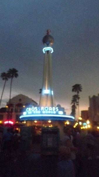 Disney Hollywood at dusk