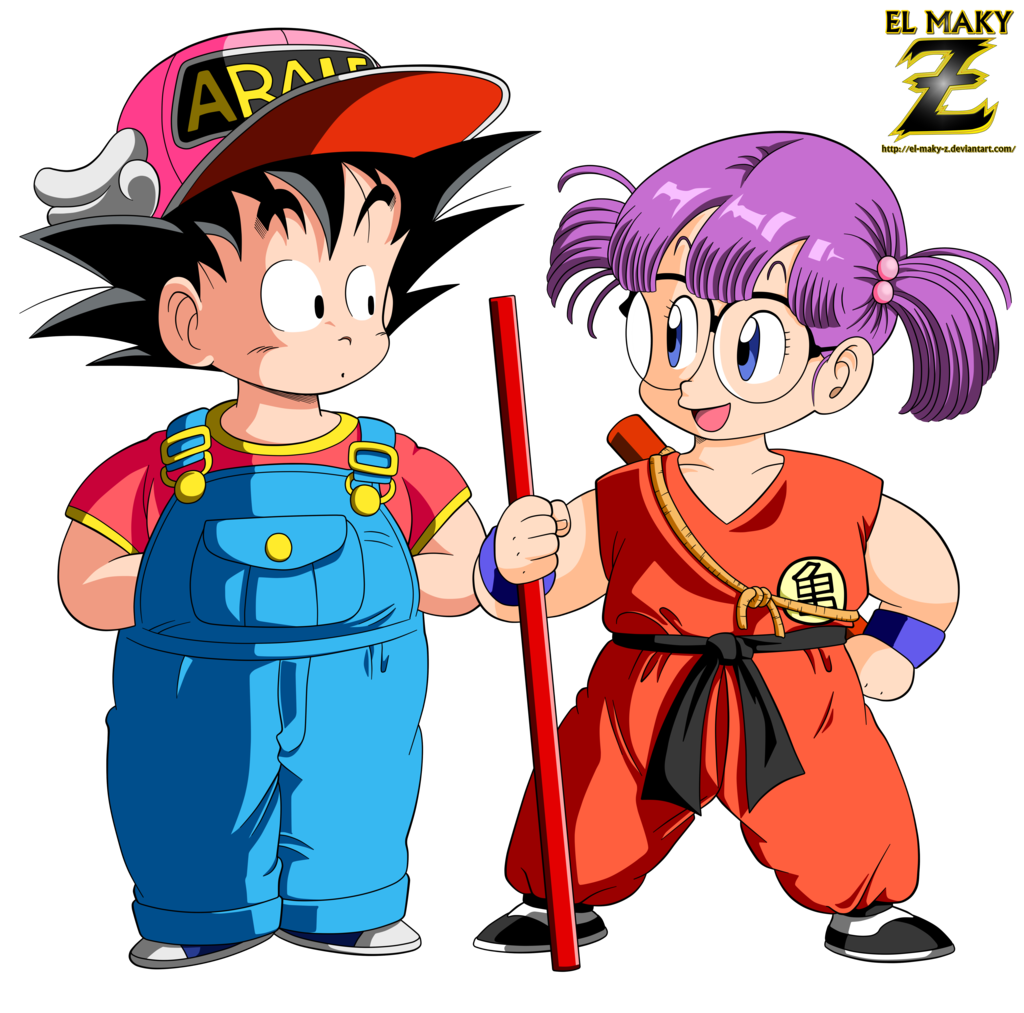 Dr Slump Episode 34: Goku And Arale By El-maky-z.deviantart.com On @DeviantArt
