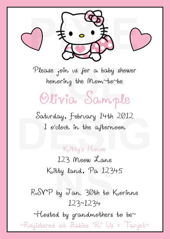 Hello Kitty Baby Shower Invitations. Baby Hello Kitty!