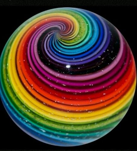 Eddie Seese 1 1 2 Rainbow Iridescent Swirl Marble Ebay Rainbow Aesthetic Rainbow Colors Rainbow