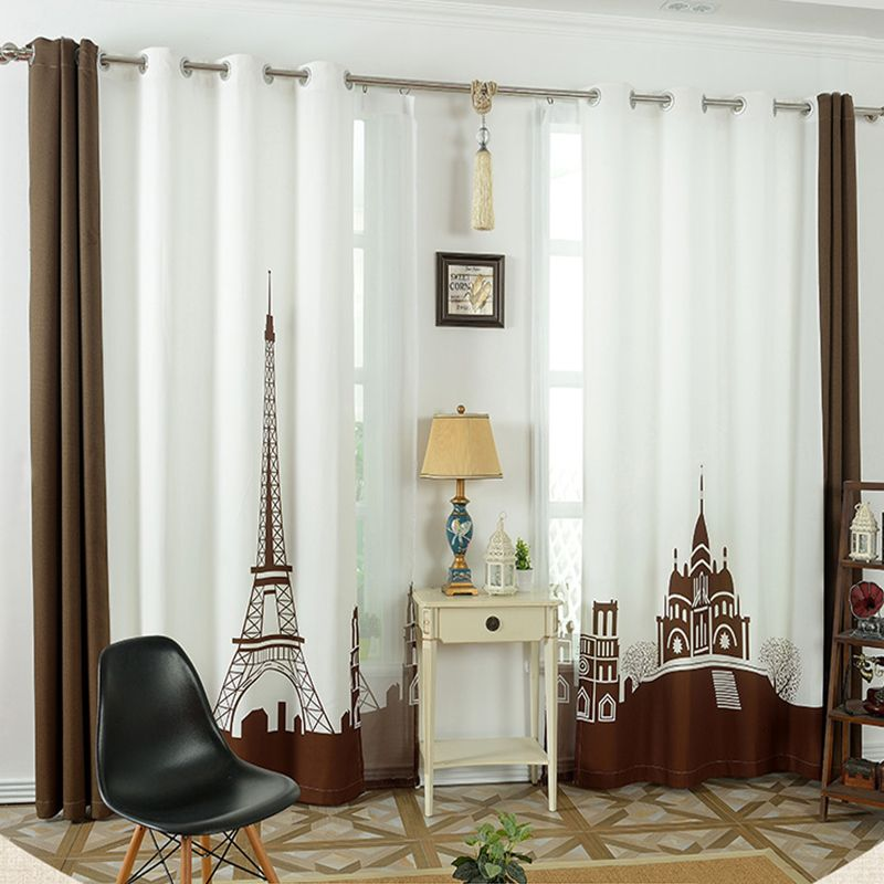 Tower Castle Window Curtains For Living Room Luxurious 3d Curtain Children European Style Bedroom Blackout Curtains Curtains Living Room Curtains Cool Curtains