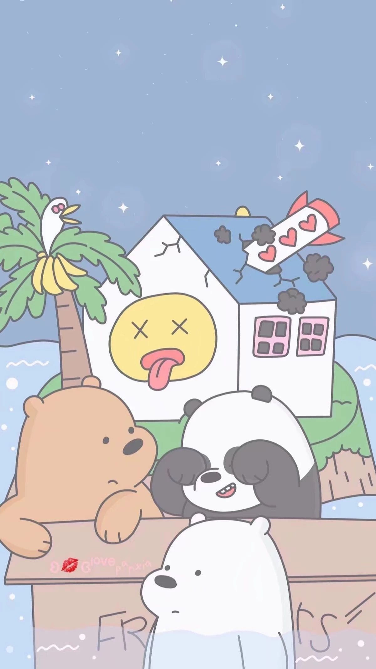 1200x2133 Home Screen We Bare Bears Kawaii Wallpaper Kawaii Cute