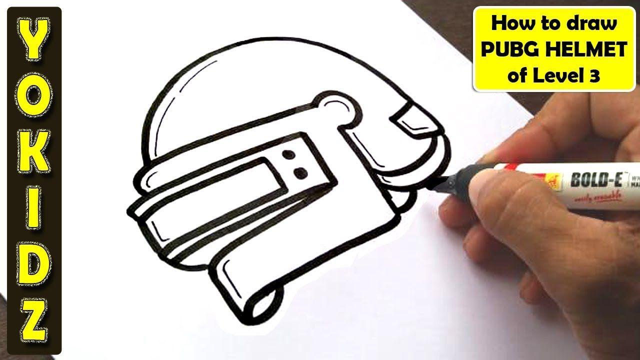 How To Draw PUBG Helmet Of Level 3