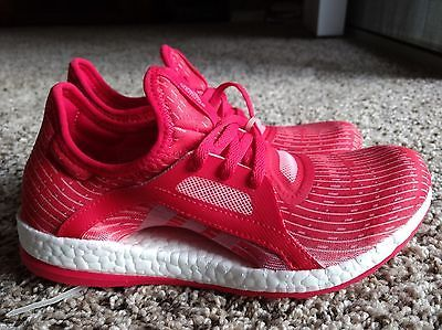 ADIDAS Pure Boost X Women's Running Shoes (Red/Pink) - Size 6 https://t.co/h3vVwJJftK https://t.co/gOVIgA4V9q