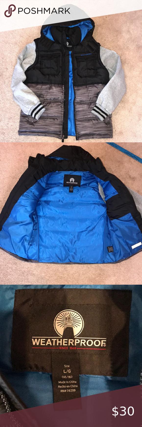 Weatherproof Boy S Vest Jacket L 14 16 Weatherproof Jacket Jackets Girls Winter Jackets [ 1740 x 580 Pixel ]