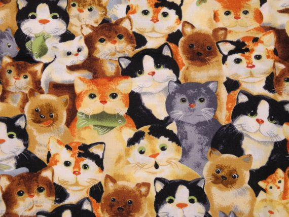 Robert Kaufman Whiskers and Tails Fabric by designsbysusantoo