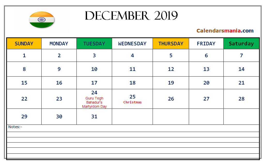 December 2019 Calendar With Holidays Festivals Events Holiday