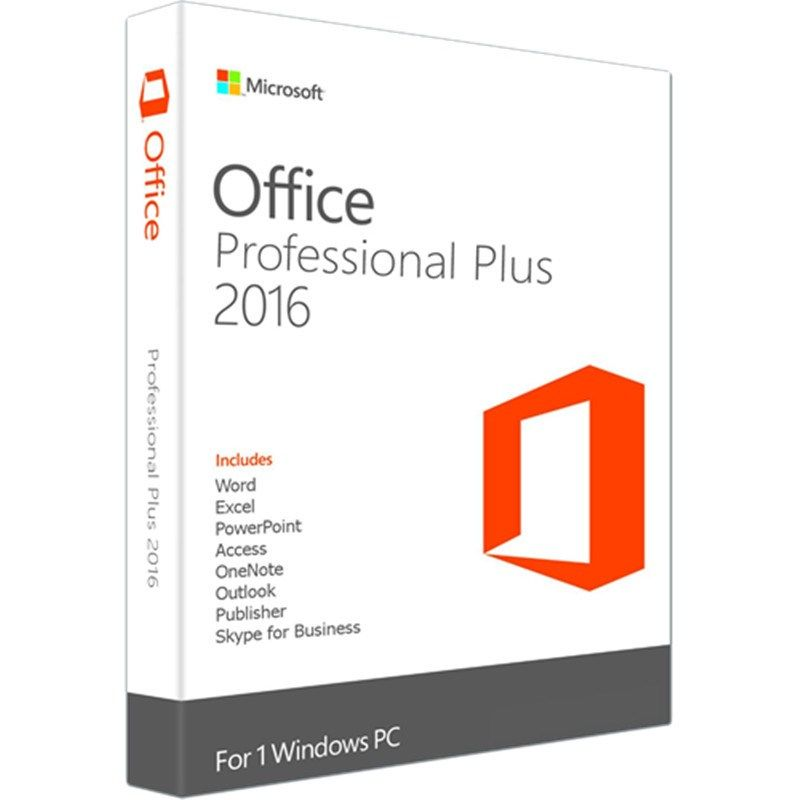 Microsoft Office 2016 Professional Plus For Windows Pc Retail