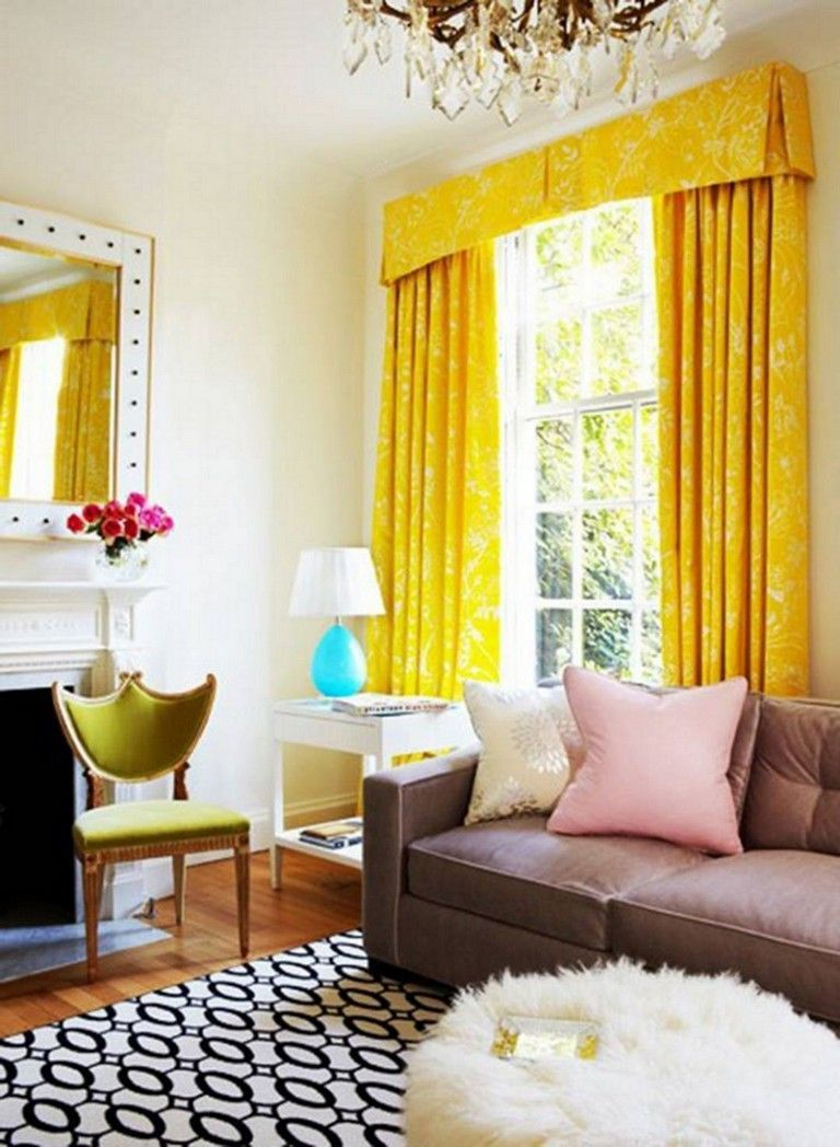 Living Room Yellow Curtains - 54+ Awesome Living Room ...