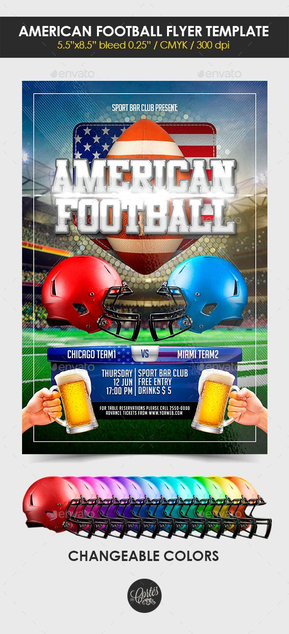 American Football Flyer Template Flyer template and American football
