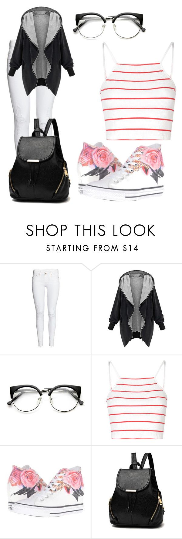 """""""Untitled #255"""" by bihesteves ❤ liked on Polyvore featuring Glamorous and Converse"""