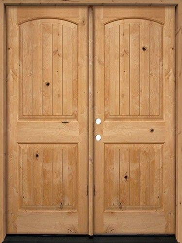 Rustic Knotty Alder Wood Double Door Unit #UK25 | Exterior in 2019 on