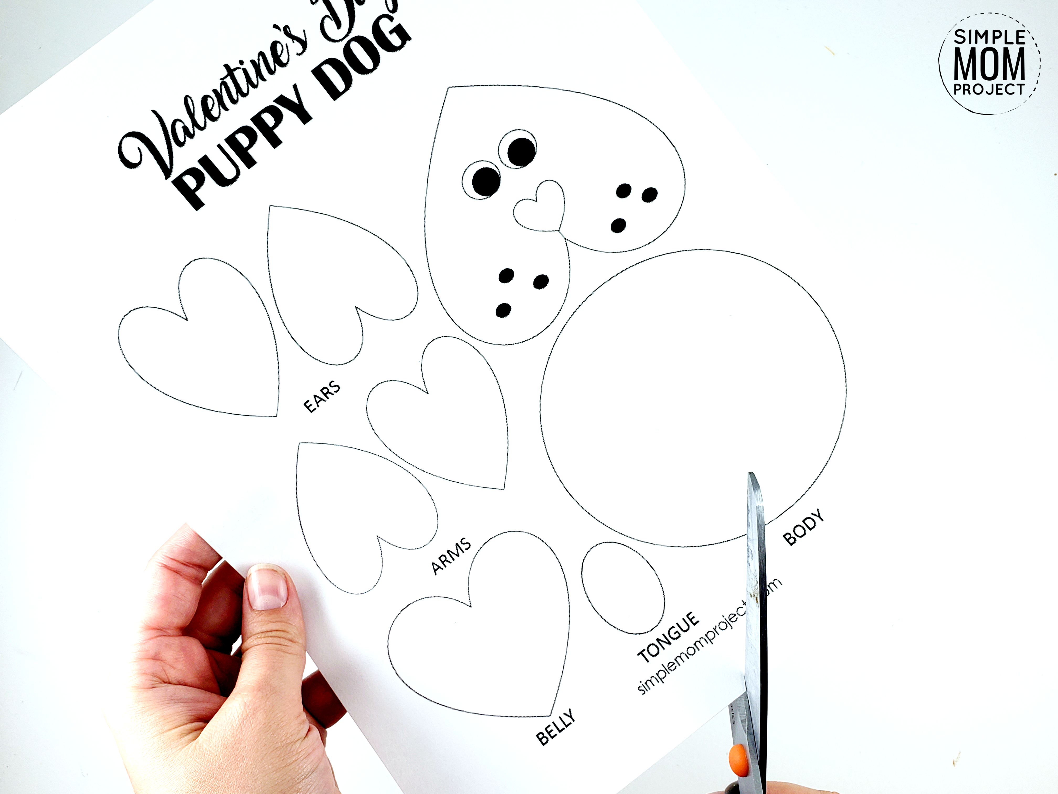 Valentine S Day Puppy Dog Card With Free Printable