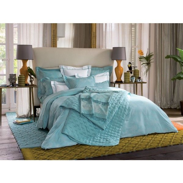 Yves Delorme Tropics Lagon Single Duvet Cover 140x200 360 Liked On Polyvore Home Bed Design Home Decor