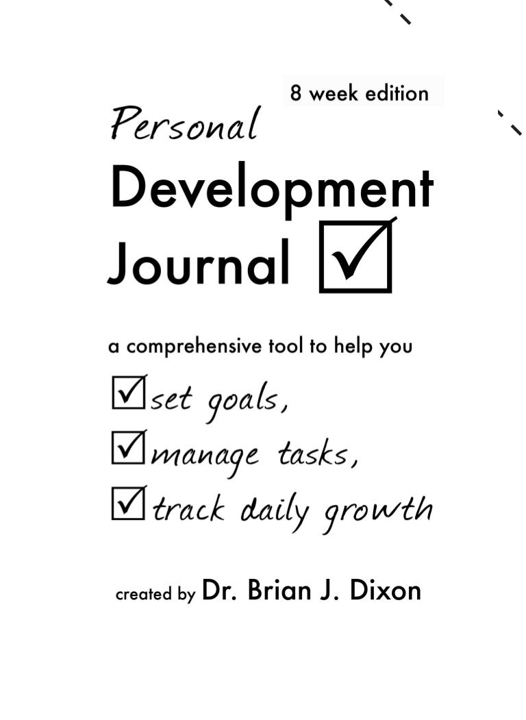 Personal Development Journal Sample  I Did It