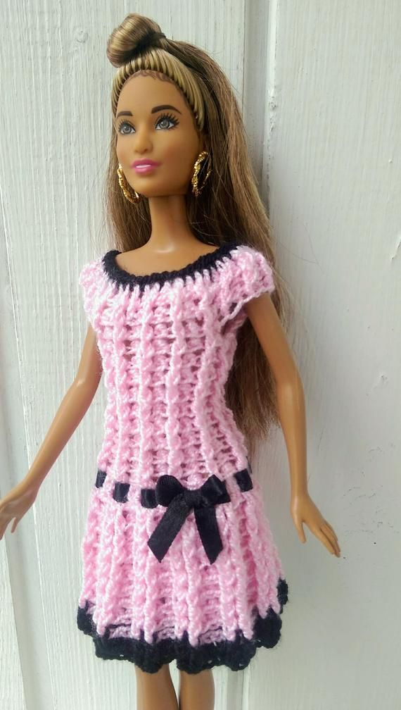 Items similar to Barbie clothes Barbie Crochet Dress for Barbie Doll on Etsy