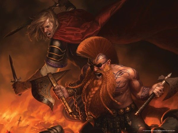 Gotrek Gurnisson and Felix jaeger